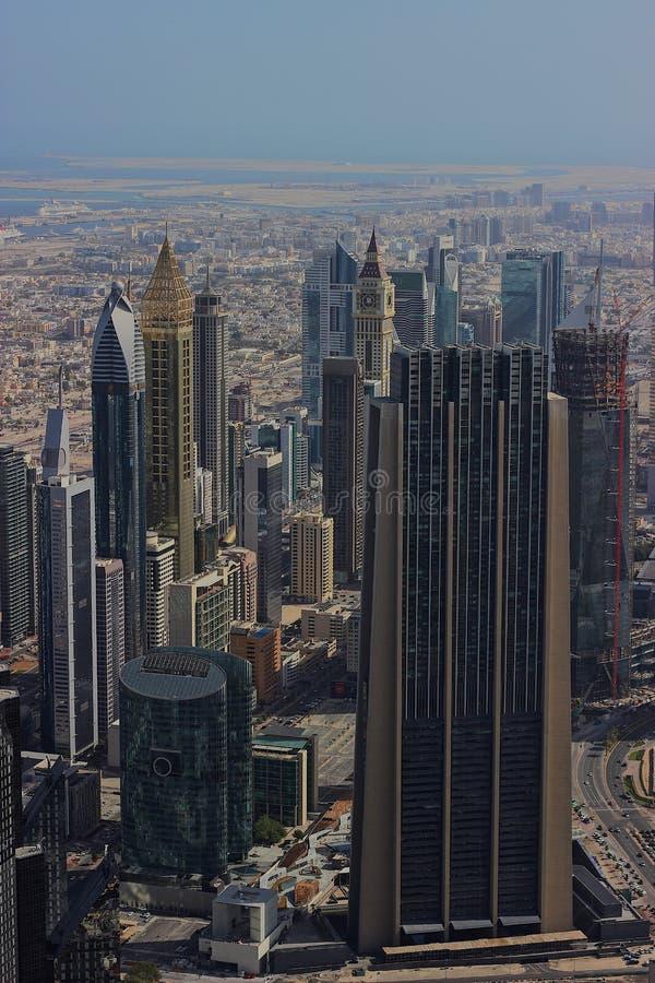 迪拜的塔的看法 免版税库存照片