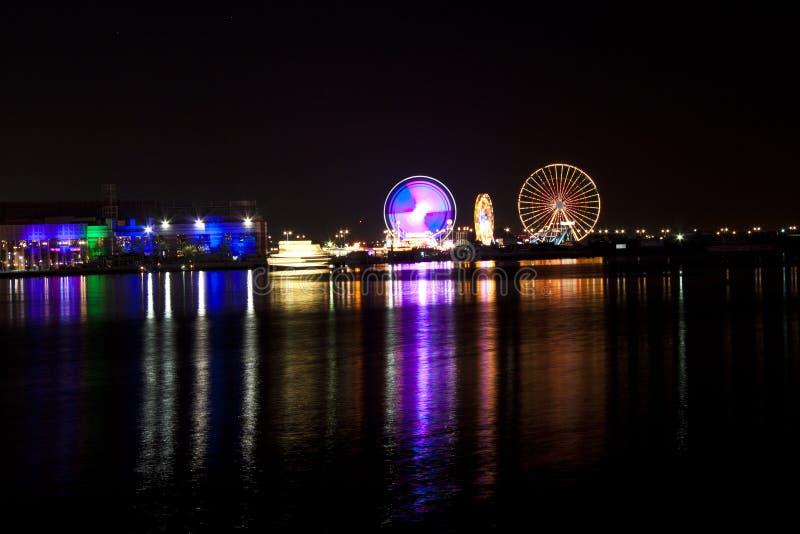 迪拜节日城市 免版税图库摄影