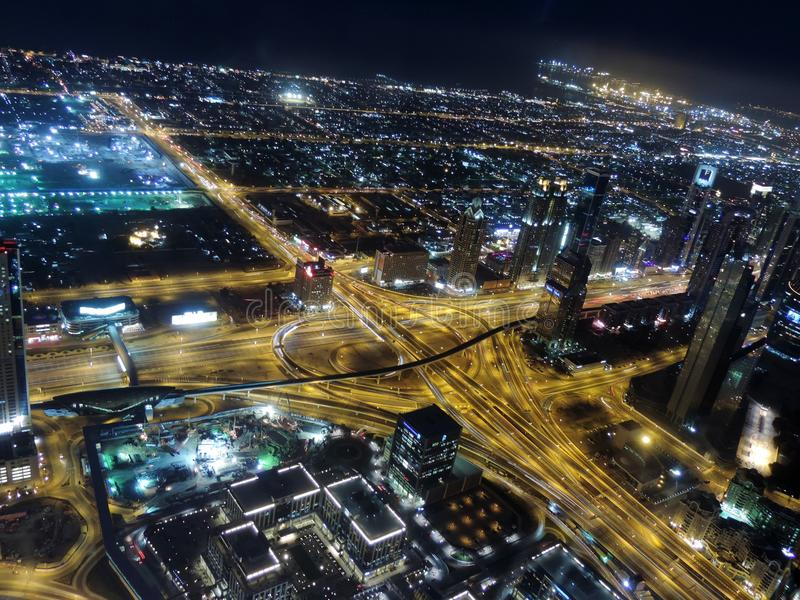 迪拜视图 免版税库存照片
