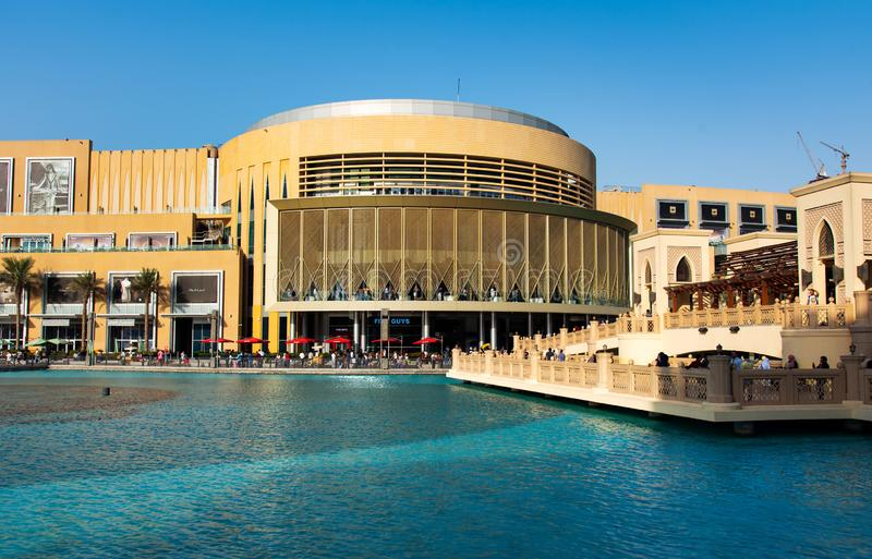 迪拜,阿拉伯联合酋长国- 2018年9月26日:迪拜购物中心mod 库存照片