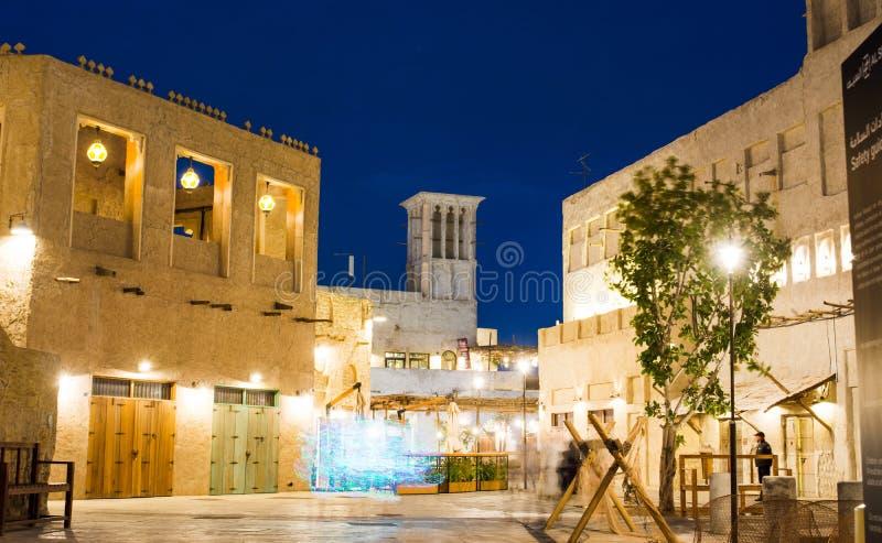 迪拜,阿联酋- 2018年1月30日:Al Fahidi Histor 免版税库存照片
