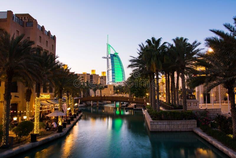 迪拜,阿联酋- 2018年4月20日:Burj Al阿拉伯人luxur 免版税库存照片