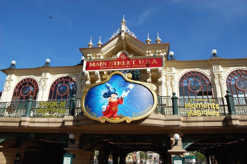 迪斯尼乐园主要巴黎街道美国 库存图片