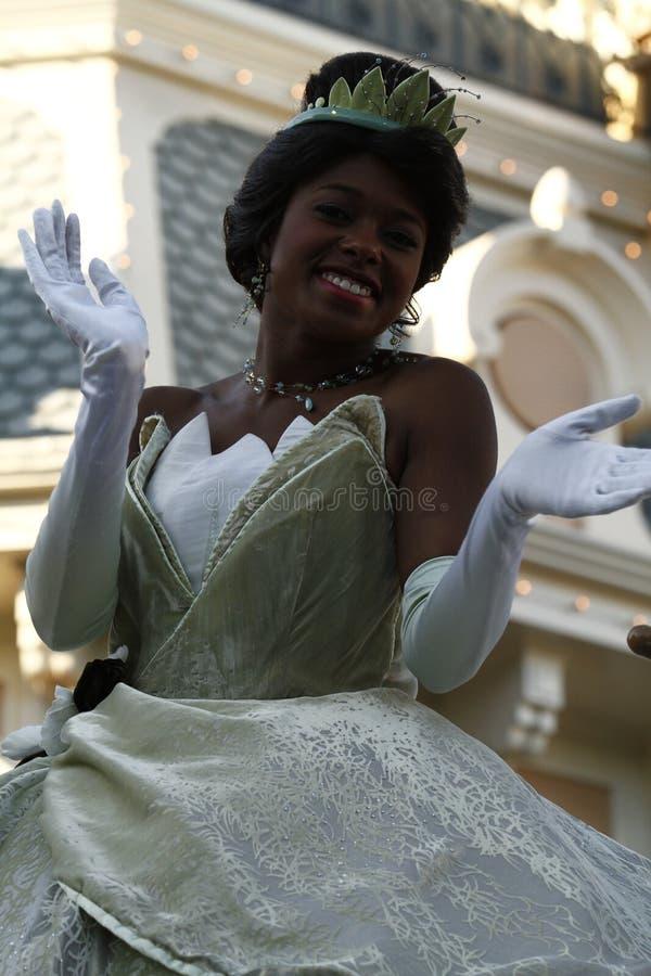 迪斯尼乐园游行的蒂亚纳公主 免版税库存照片