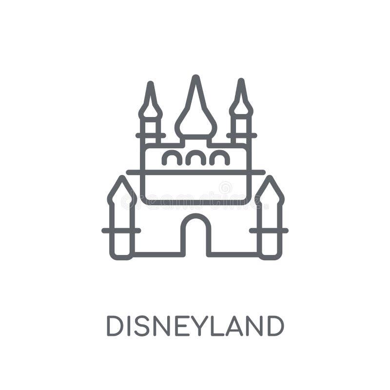 迪斯尼乐园线性象 现代概述迪斯尼乐园商标概念o 库存例证