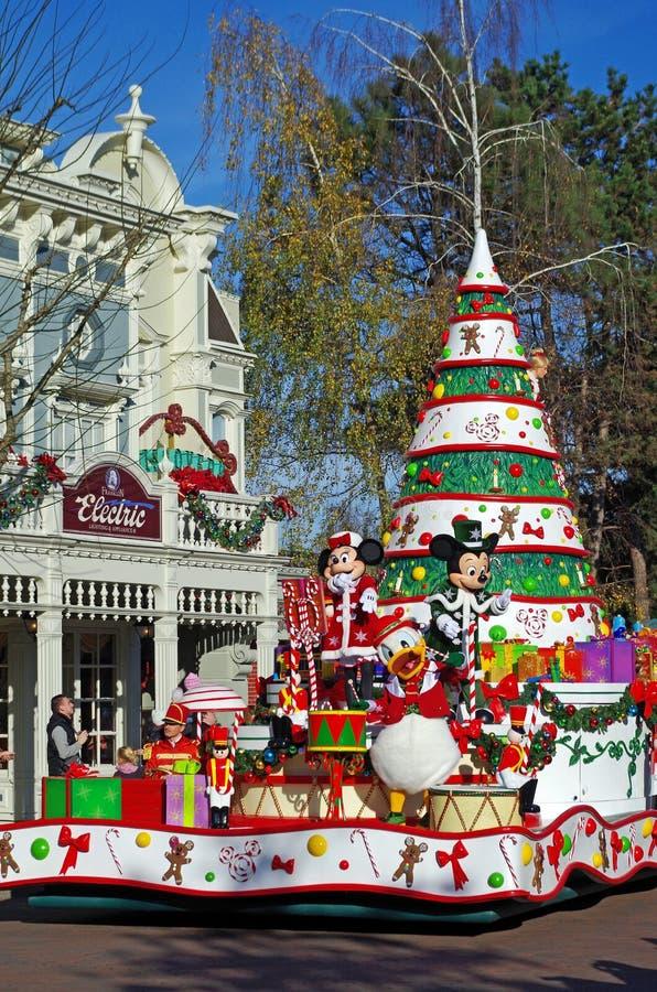 迪斯尼乐园巴黎圣诞节 免版税库存图片