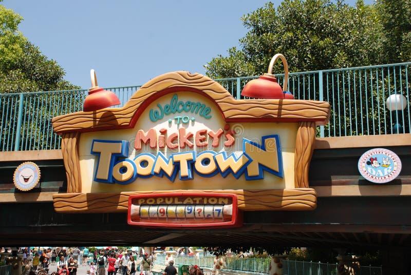 迪斯尼乐园mickey s toontown 免版税库存图片