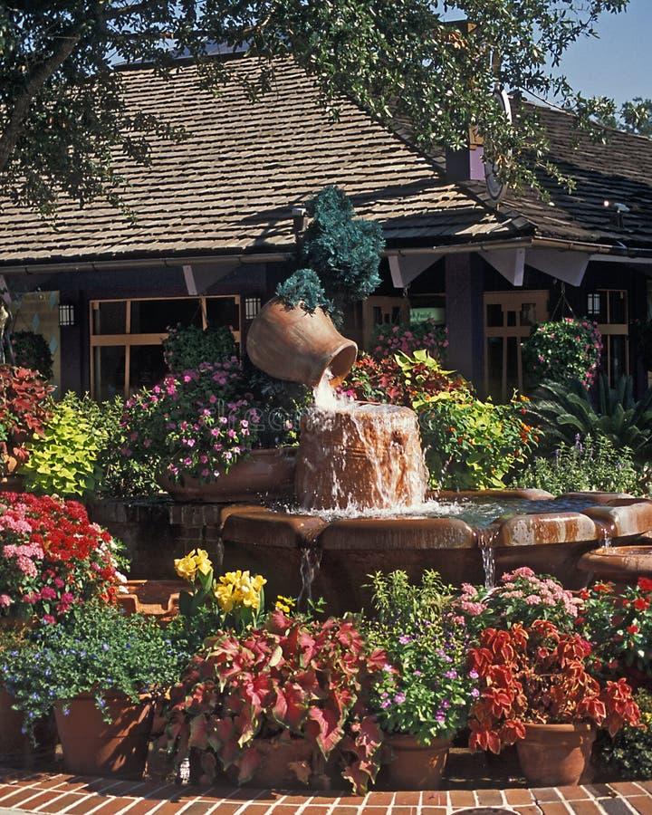 迪斯尼入口喷泉市场 库存图片