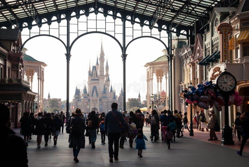 迪斯尼城堡在东京迪斯尼乐园 免版税库存照片