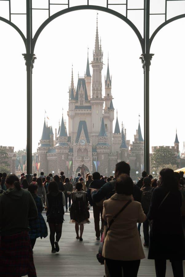 迪斯尼城堡在东京迪斯尼乐园 库存图片