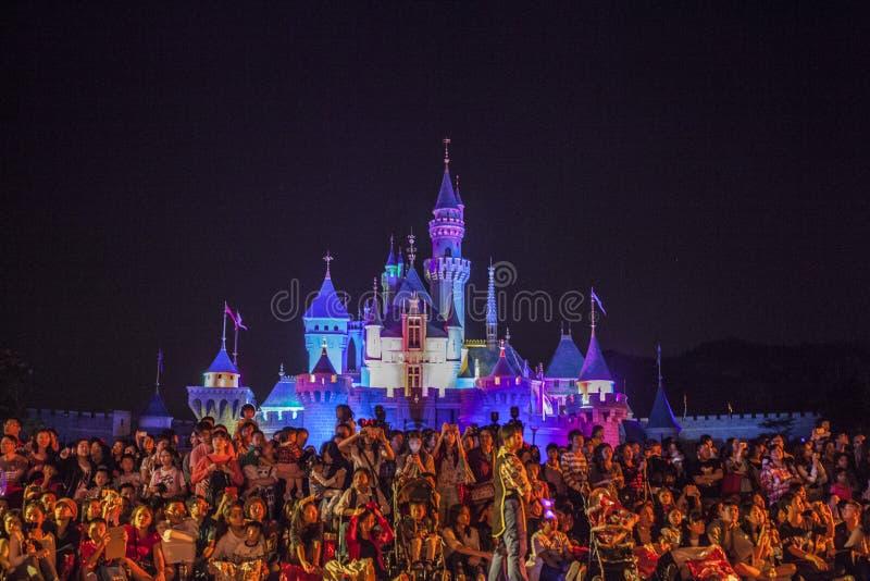 迪斯尼城堡 免版税库存照片