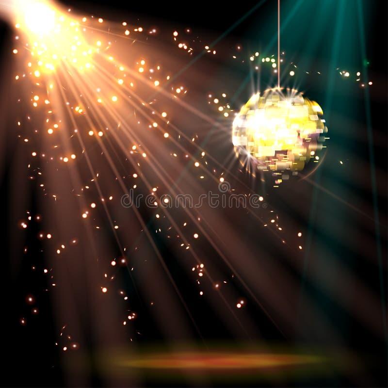 Download 迪斯科与光的球背景 向量例证. 插画 包括有 空间, 艺术, 来回, 形状, 看板卡, 移动, 设计, 高雅 - 72373036