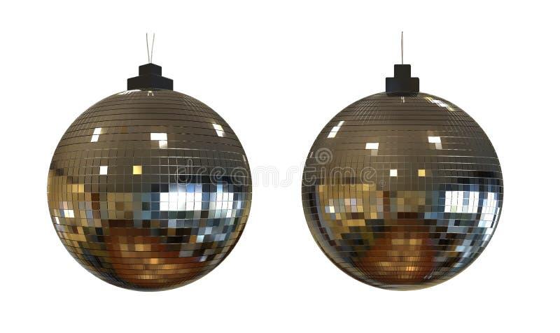 迪斯科球被隔绝的3d 库存照片