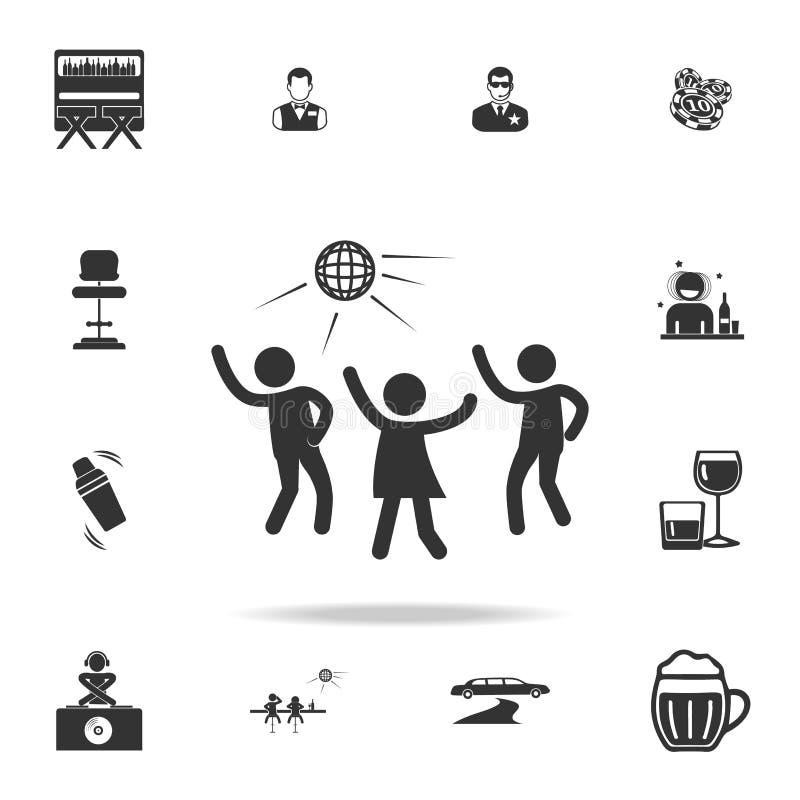 迪斯科聚会剪影象 详细的套夜总会和迪斯科象 优质质量图形设计 一汇集ico 皇族释放例证