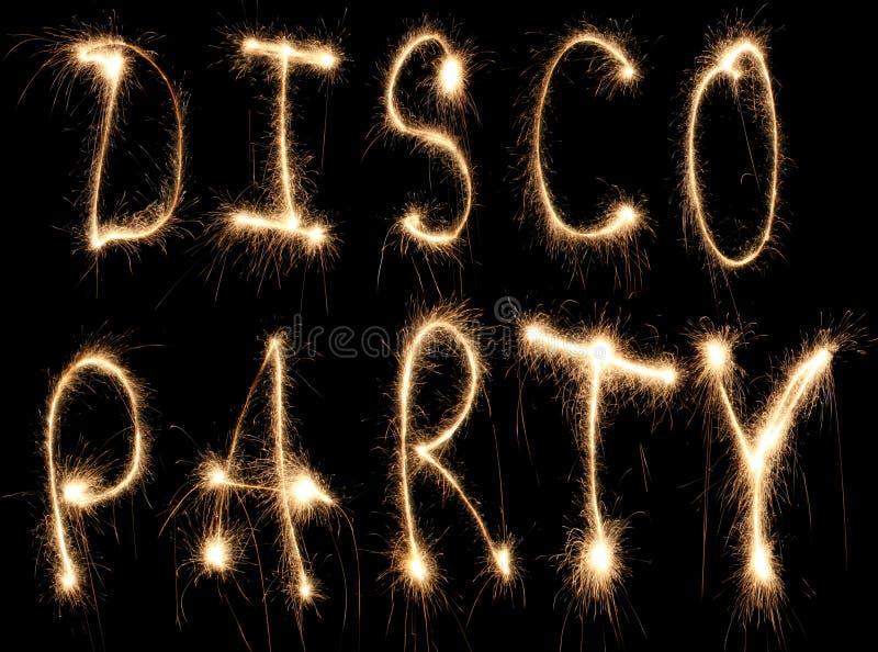 迪斯科聚会闪烁发光物 免版税库存图片