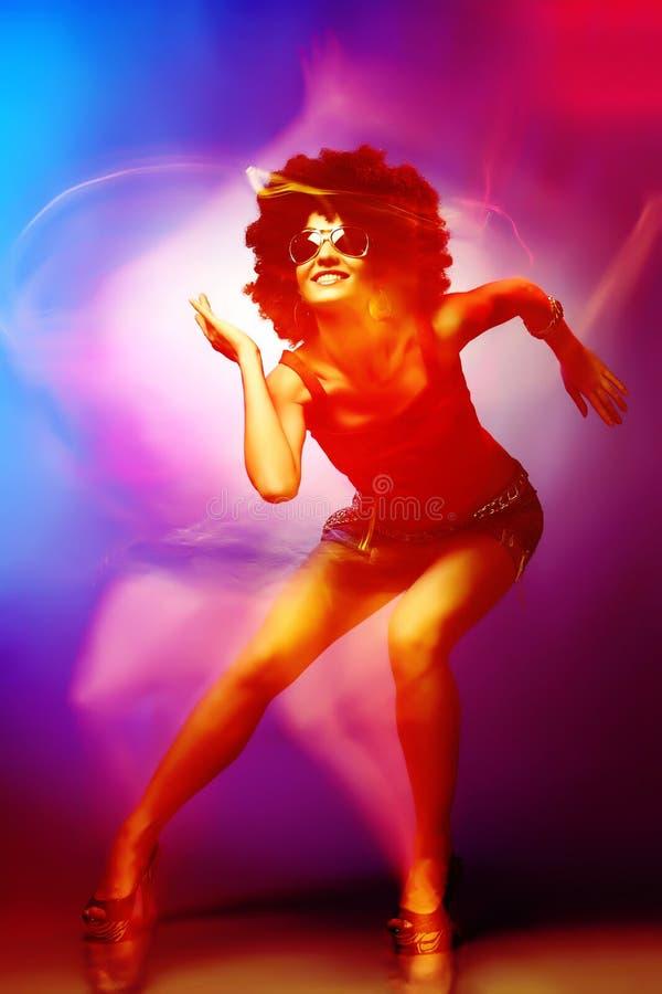 迪斯科舞蹈演员 免版税库存照片