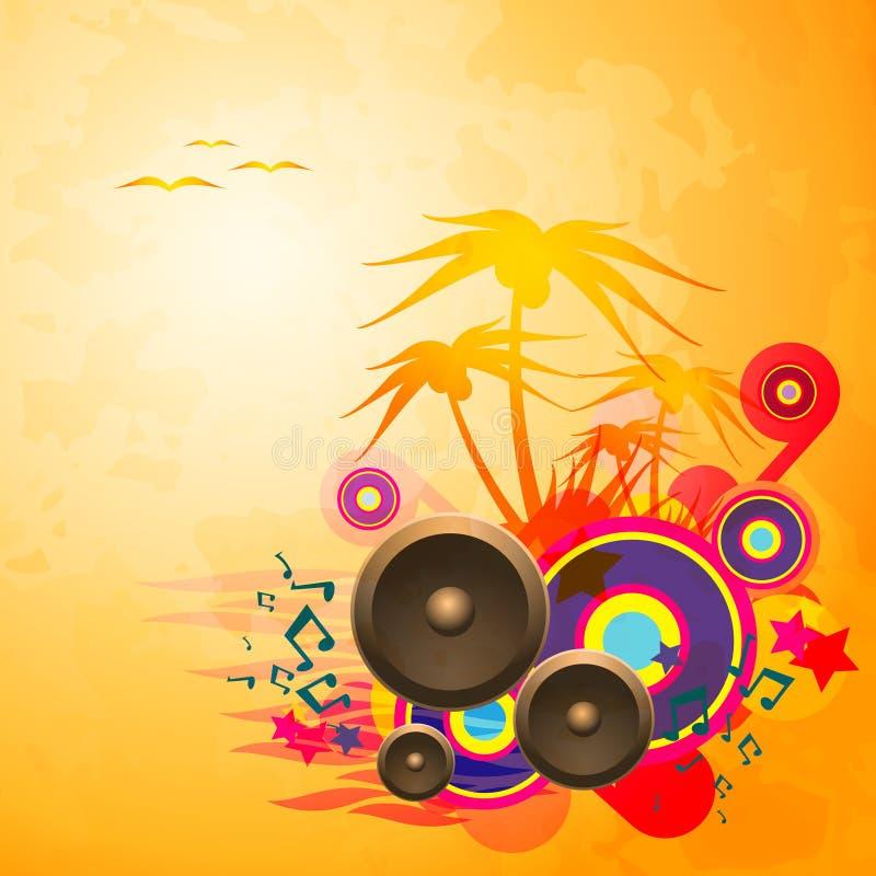 迪斯科舞蹈热带音乐飞行物。 向量例证
