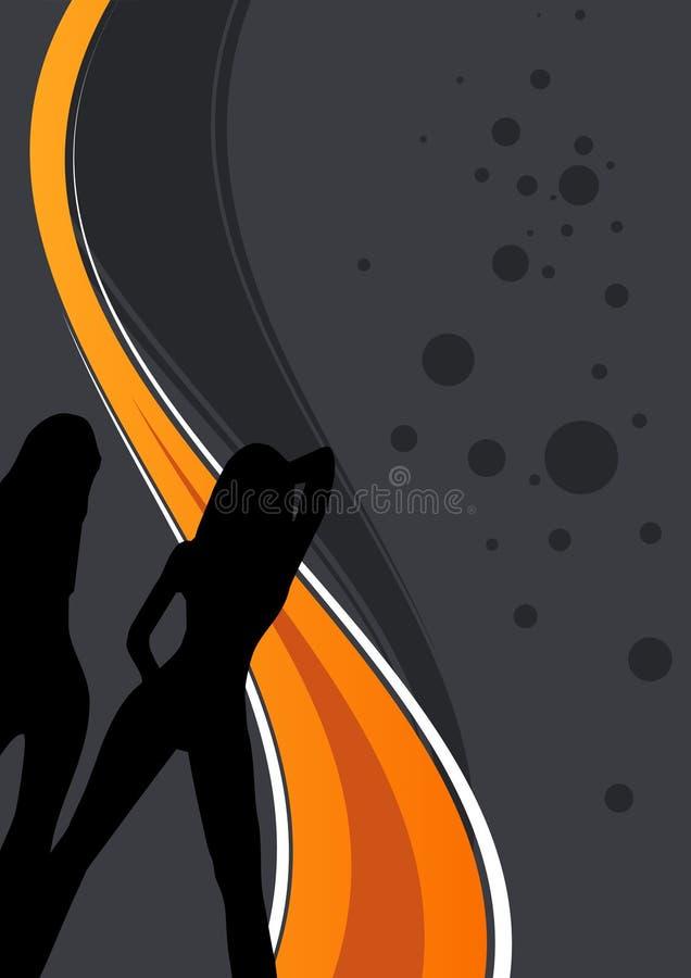 迪斯科说明的妇女 向量例证