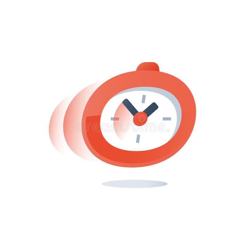 迫切交货期,快速的服务,时间赛跑,在行动,最后期限计数的秒表下来,快的勘测,注册期限 库存例证