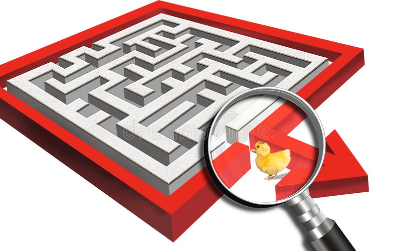迷人在迷宫 向量例证