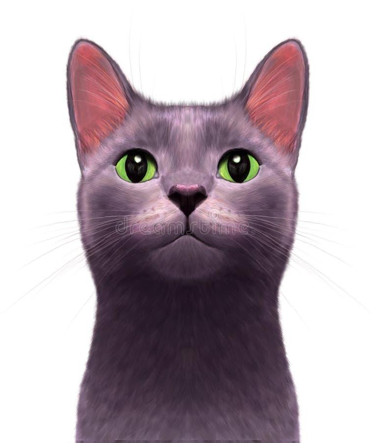 迷人好奇猫 皇族释放例证