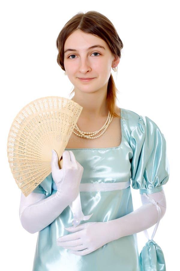 迷人的夫人维多利亚女王时代的年轻&# 免版税库存照片
