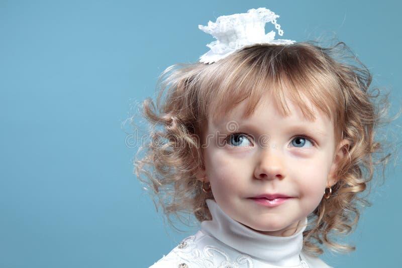 迷人的女孩画象  图库摄影