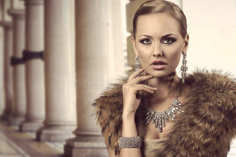 迷人的富有的时尚夫人 库存图片
