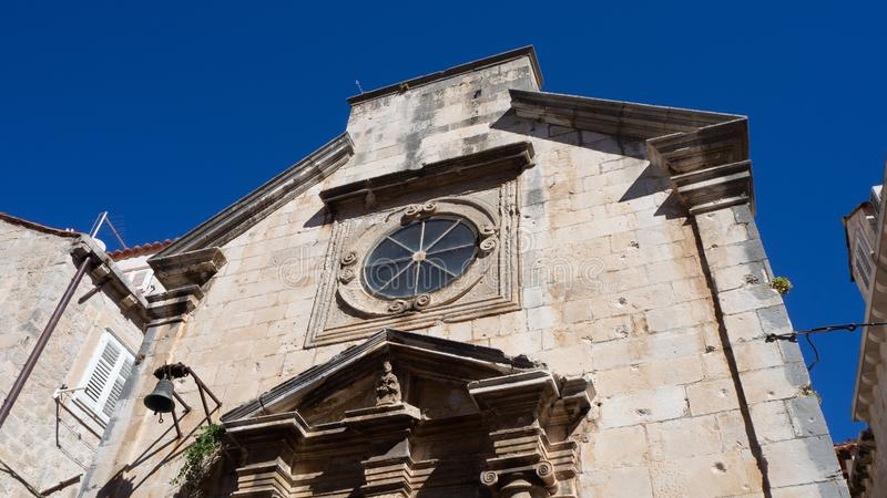 迷人的建筑学在老镇杜布罗夫尼克,克罗地亚 库存图片