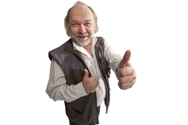 迷人的快乐的中年人 免版税库存照片