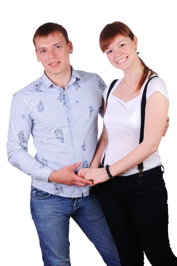 迷人的新夫妇 免版税库存照片