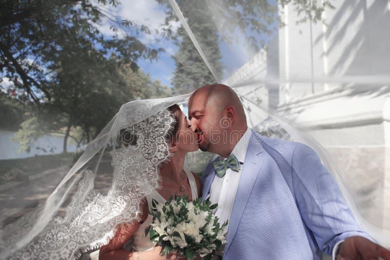 迷人的新娘和新郎 库存图片