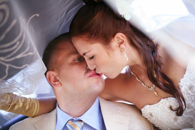 迷人的新娘和新郎 免版税图库摄影
