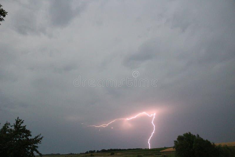 迷人的闪电 库存照片