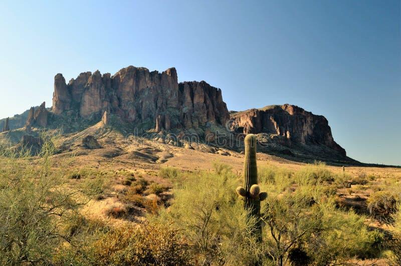 迷信山在亚利桑那 库存照片
