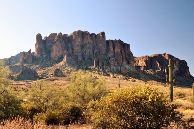 迷信山在亚利桑那 免版税库存图片