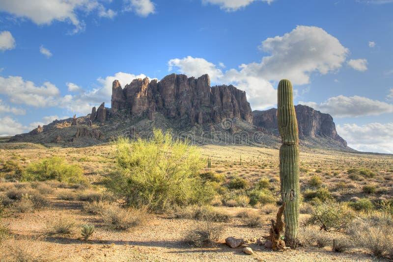 迷信山在亚利桑那 库存图片