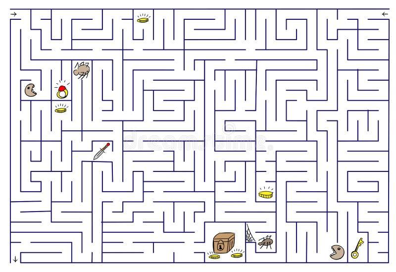 迷宫。 库存例证