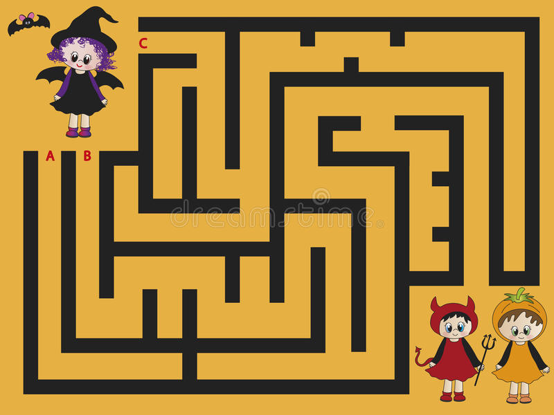 迷宫万圣节 向量例证