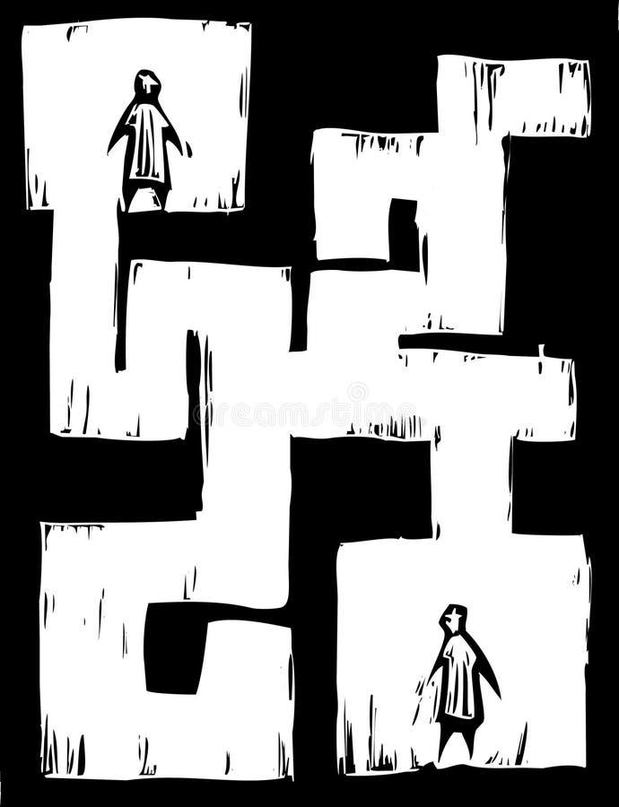 迷宫人 向量例证