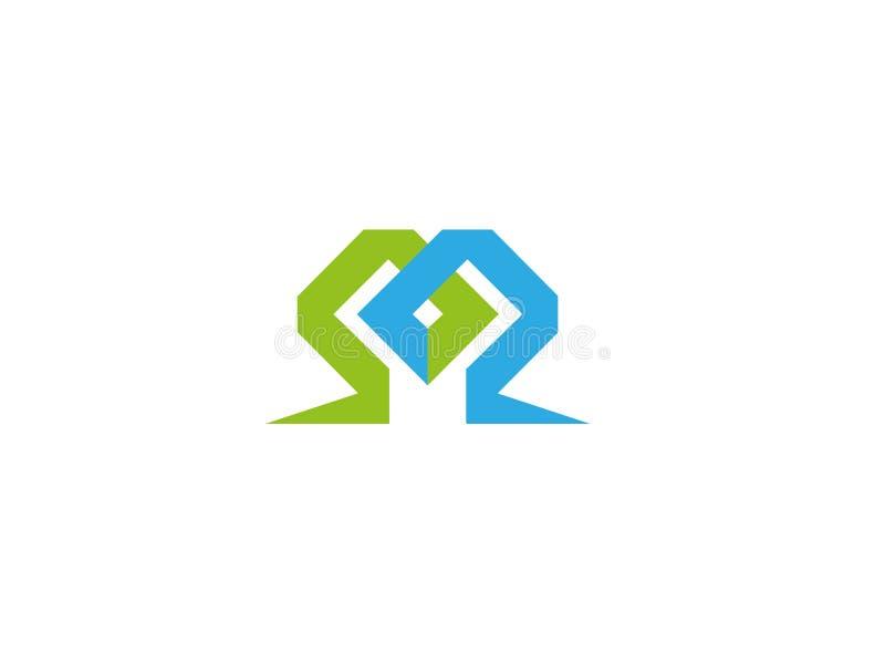 迷宫商标设计的技术标志 库存例证