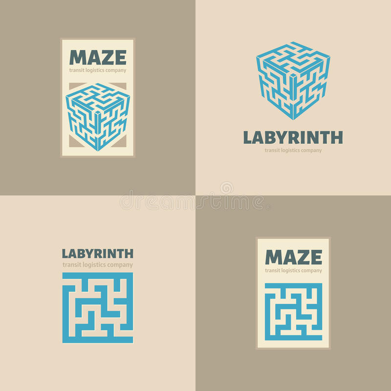 迷宫商标 向量例证