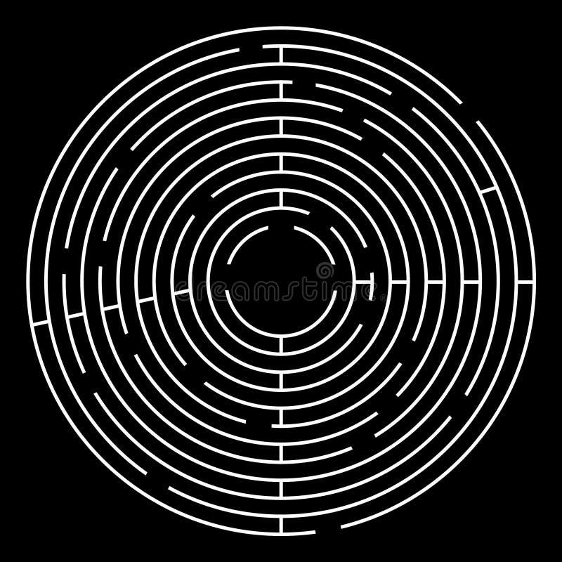 迷宫圈子传染媒介例证 库存例证
