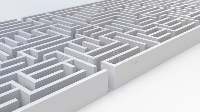 迷宫复杂问题企业解答挑战战略决定3D例证 向量例证