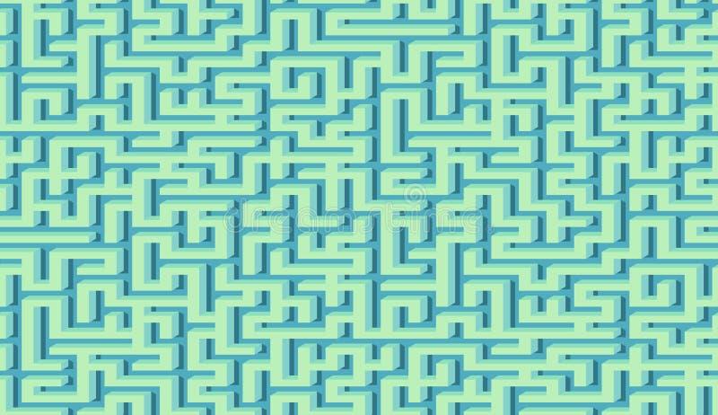 迷宫样式与迷宫的摘要背景海报或墙纸的 库存例证