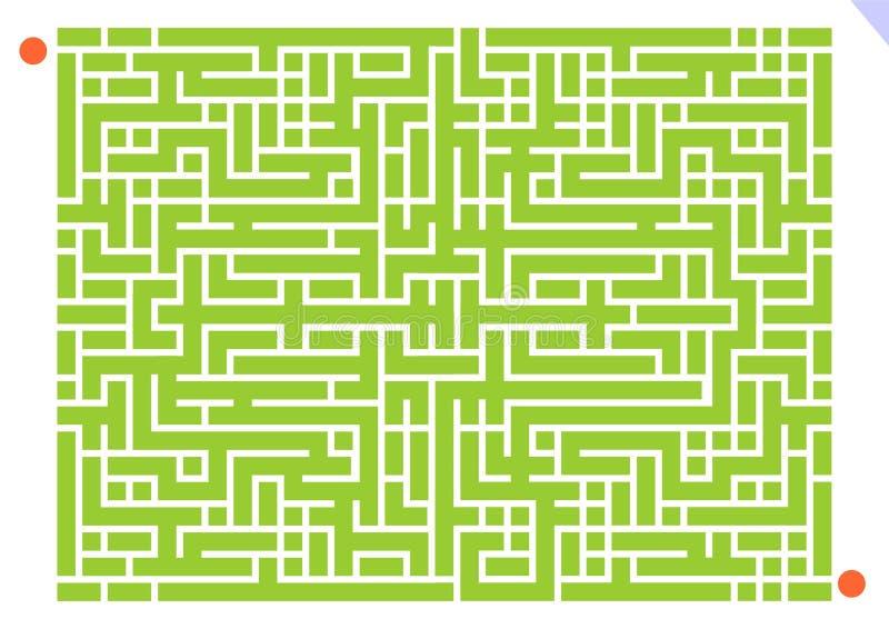迷宫比赛 库存例证