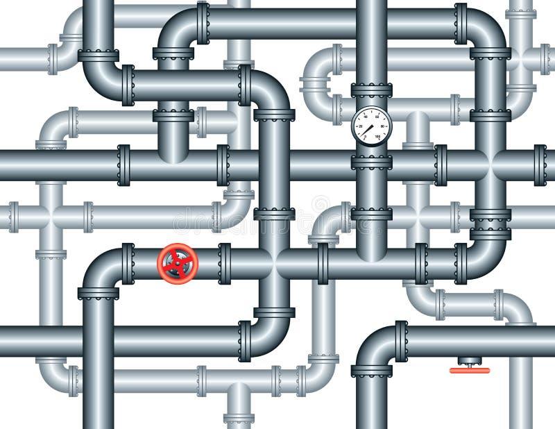 迷宫用管道输送无缝的管道 库存例证