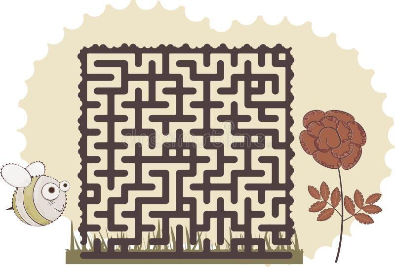 迷宫的蜂 库存例证