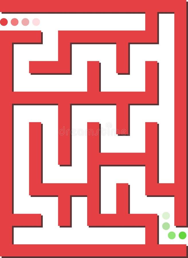 迷宫红色 库存例证