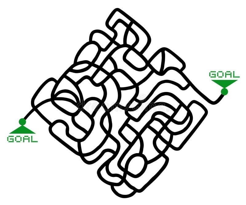 迷宫解答比赛 向量例证